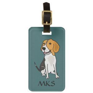 AK- Awesome Beagle Luggage Tag