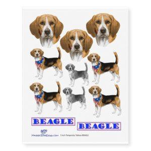 Beagle Temporary Tattoos