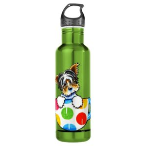 Biewer Yorkie Polka Dot Cup Water Bottle
