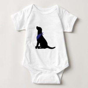 Black Labrador Retriever Baby Bodysuit