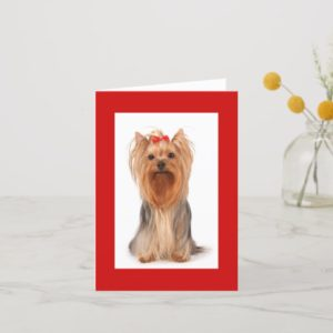 Blank Yorkshire Terrier Puppy Dog Notecard