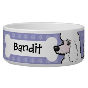 Cartoon Standard/Miniature/Toy Poodle (show cut) Bowl