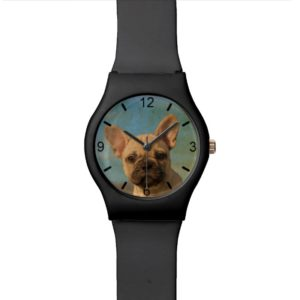 Cute French Bulldog Puppy Photo - women dial-plate Wristwatch