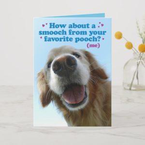 Cute Pooch Golden Retriever Birthday Card