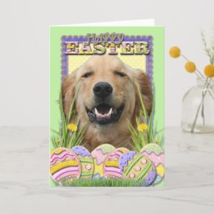 Easter Egg Cookies - Golden Retriever Holiday Card