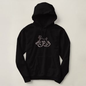 Embroidered Poodle Embroidered Hoodie
