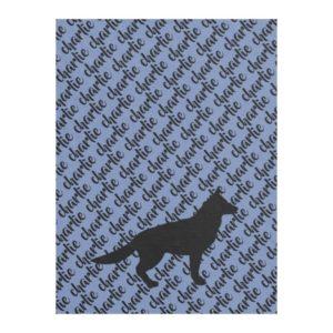 German Shepherd Dog's Name Fleece Blanket
