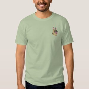 German Shepherd Embroidered T-Shirt