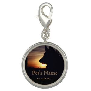 German Shepherd in the Sunset Pet Loss Charm