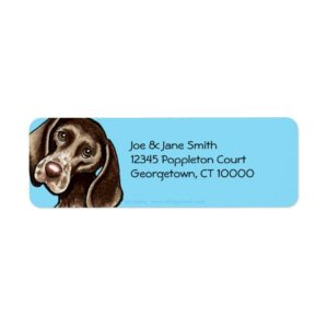 German Shorthaired Pointer Carribean Label