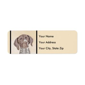 German Shorthaired Pointer Painting - Dog Art Label