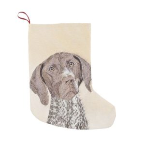 German Shorthaired Pointer Painting - Dog Art Small Christmas Stocking