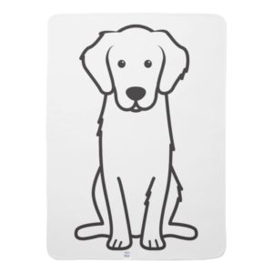 Golden Retriever Dog Cartoon Stroller Blanket