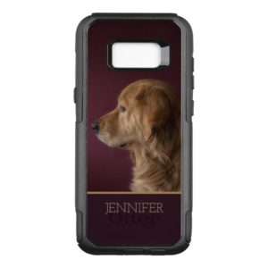 Golden Retriever Personalized Name | Dog OtterBox Commuter Samsung Galaxy S8+ Case