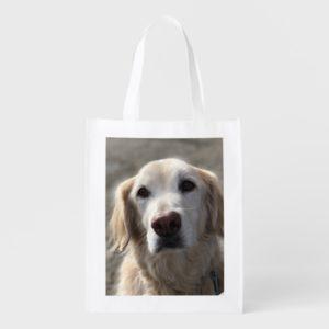 Golden Retriever Reusable Shopping Bag