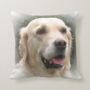 Golden Retriever Throw Cushion
