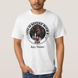 GSP Personalized German Shorthaired Pointer T-Shirt