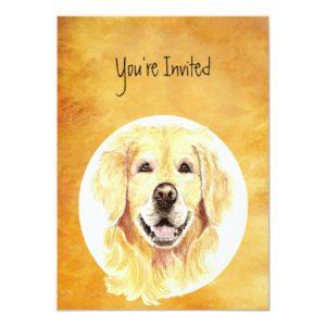 Invite Custom Birthday Golden Retriever Dog Pet