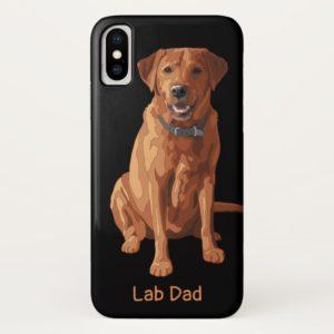 Lab Dad Fox Red Yellow Labrador Retriever Dog Case-Mate iPhone Case