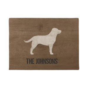 Labrador Retriever Silhouette Yellow Lab Custom Doormat