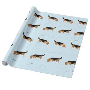 Official Sleepytown Beagles Wrapping Paper (Blue)