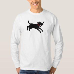 Playful Labrador Retriever Dog Black Lab Running T-Shirt