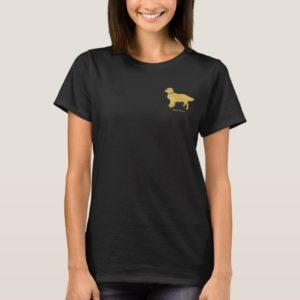 Preppy Dog Golden Retriever Personalized T-Shirt