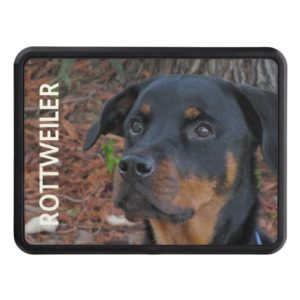 Rottweiler Trailer Hitch Cover