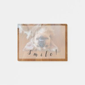 Smiling Golden Retriever Post-it Notes