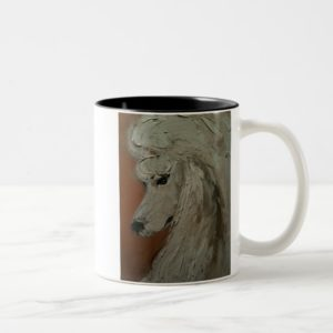 Standard Poodle Two-Tone Coffee Mug