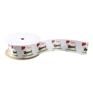 we luv beagles from tony fernandes satin ribbon