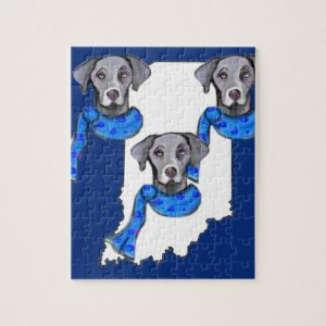 WEIMARANERS IN INDIANA JIGSAW PUZZLE