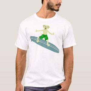 Yellow Labrador Retriever Surfer T-Shirt