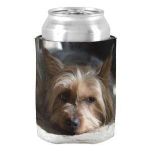 yorkshire / Silky Terrier can and bottle Can Cooler