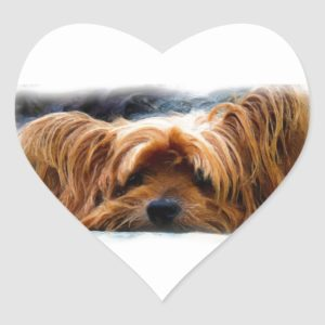 Yorkshire Terrier Heart Sticker