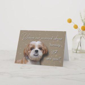 27th Birthday Dog Card