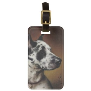 A Great Dane Bag Tag
