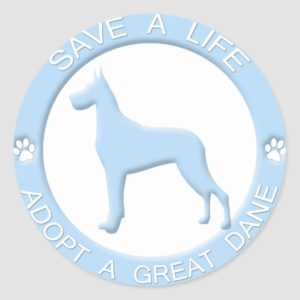 Adopt a Great Dane Stickers
