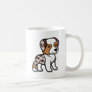 aussie red merle cartoon.png coffee mug