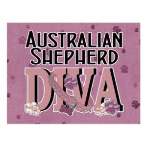 Australian Shepherd DIVA Postcard