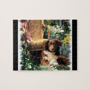 Australian Shepherd Dog Art Jigsaw Puzzle