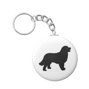 Bernese Mountain Dog (black silhouette) Keychain