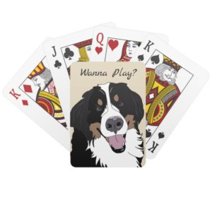Bernese Mountain Dog Playing Cards