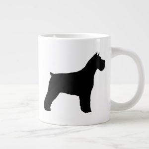 Black Schnauzer Dog Silhouettes Giant Coffee Mug
