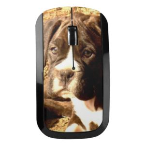 Boxer dog computer mouse