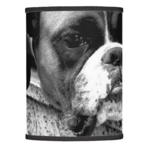 Boxer Dog On Windowsill Lampshade