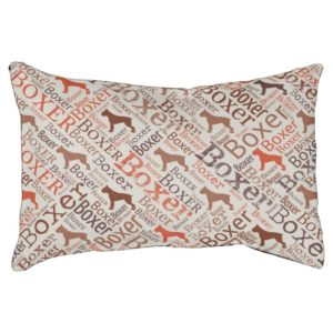 Boxer dog Word Art Pet Bed