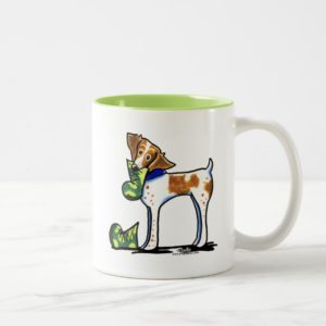 Brittany Spaniel Camouflage Boots Two-Tone Coffee Mug