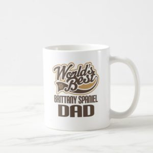 Brittany Spaniel Dad (Worlds Best) Coffee Mug
