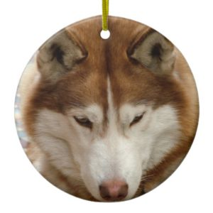 Brown Husky  Ornament